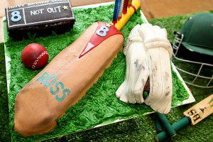 Cricket Bat Cake #Cakes #Recipe #SouthAfrica