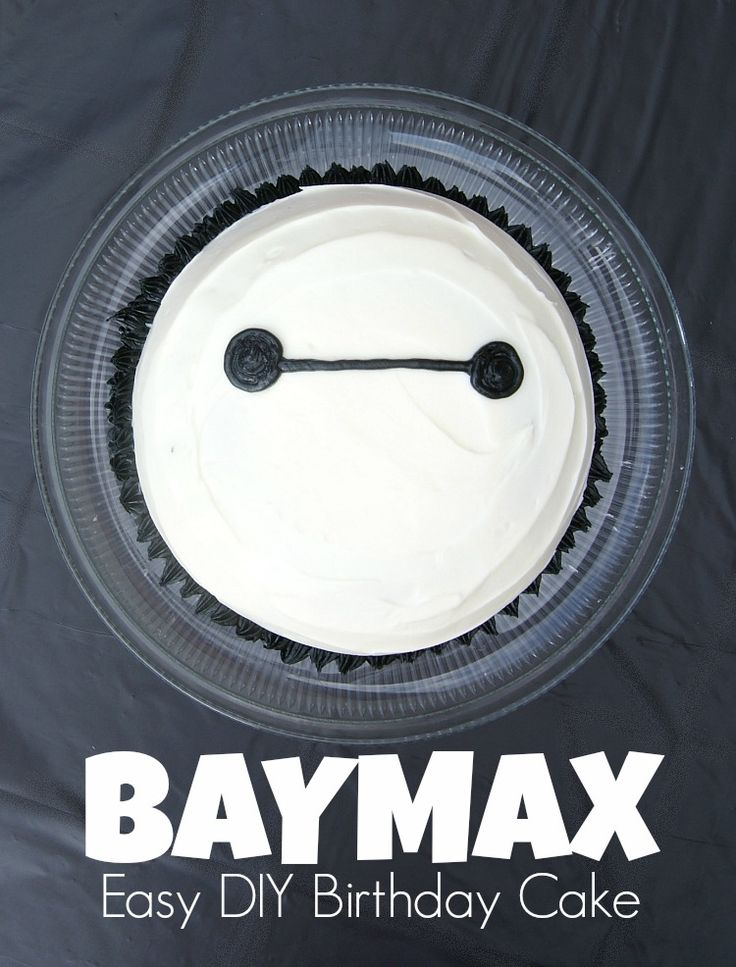 SUPER SIMPLE tutorial for an Easy DIY BAYMAX Birthday Cake! by 3 Little Greenwoods Planning a Big Hero 6 Birthday party? You NEED this tutorial! #Cakes #DIYBirthdayCake #Baymax