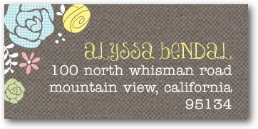 Printed Garden - Personalized Address Labels - Mikan Ink - Suede - Neutral : Front