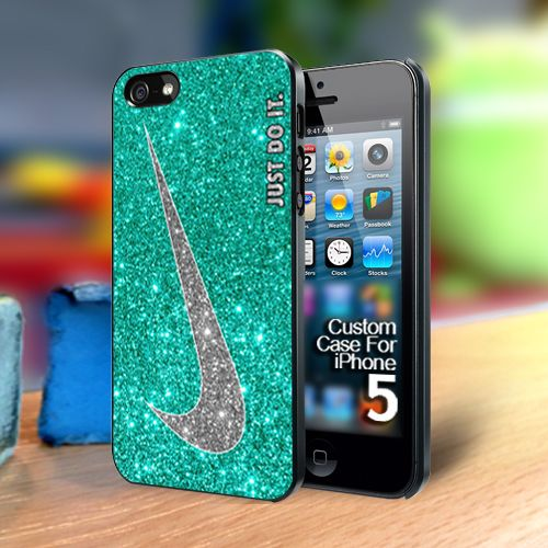 Nike Just Do It Glitter Mint Iphone 5 case | TheYudiCase - Accessories on ArtFire