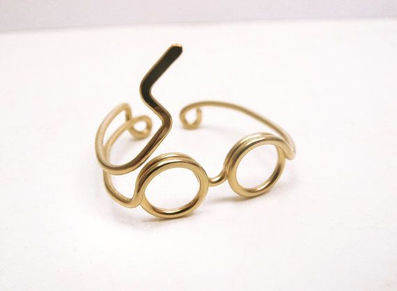 Harry Potter Ring Gouden Ring Ring van de bril door LiuRokSilver
