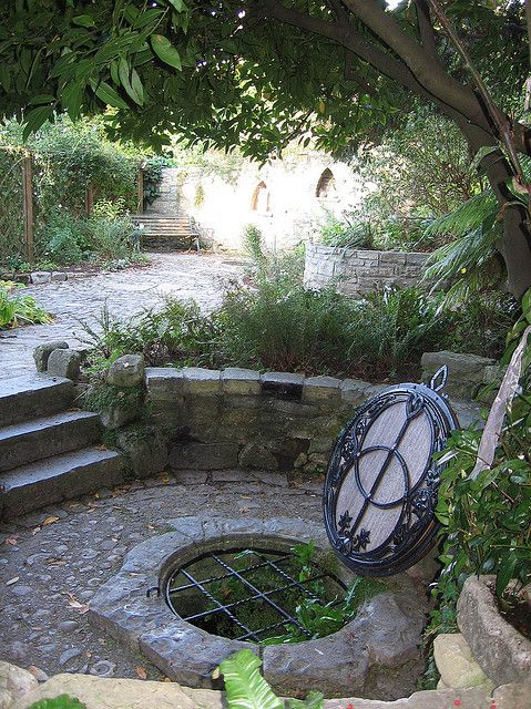 Chalice Well is a holy well situated at the foot of Glastonbury Tor in the county of Somerset, England. The natural spring and surrounding gardens are owned and managed by the Chalice Well Trust, founded by Wellesley Tudor Pole in 1959