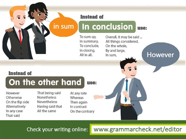 English Grammar - Check out other common phrases and their alternatives here: http://www.grammarcheck.net/common-phrases/