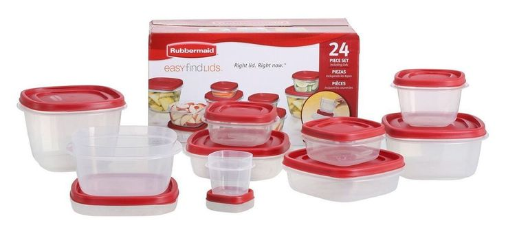 Rubbermaid Food Storage Container- BPA-Free,Easy Plastic Container Set 24 PC New #Rubbermaid