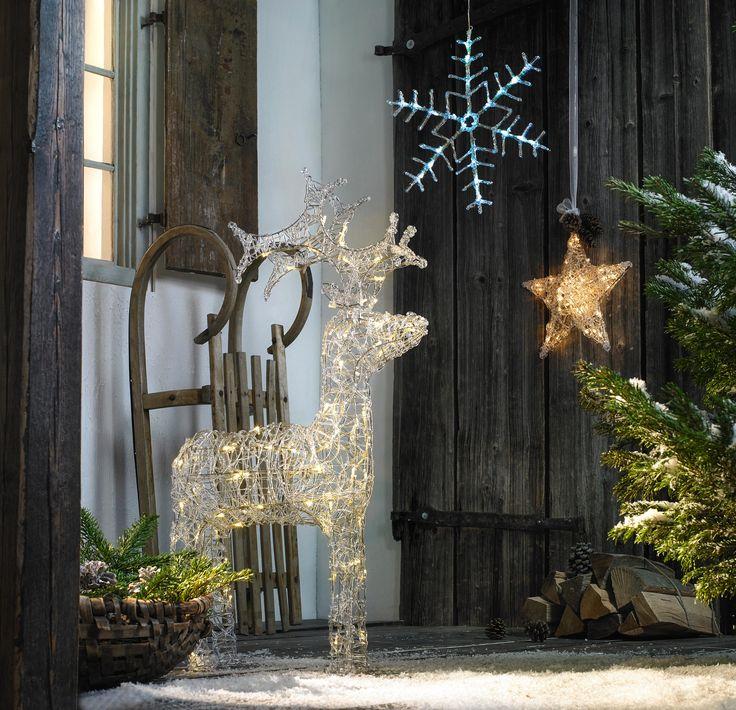 Weihnachtsdeko LED Rentier Beleuchtung