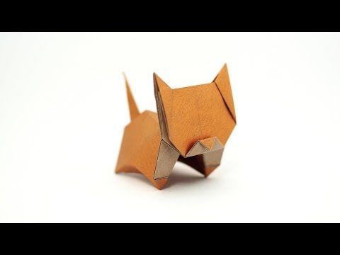 Origami Neko (cat) (Jo Nakashima) - remake - YouTube