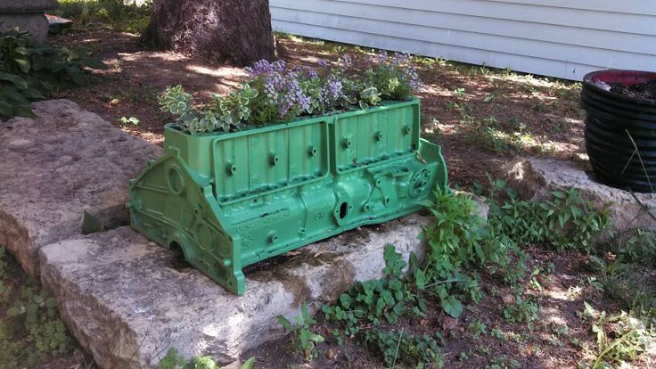 Engine block planter