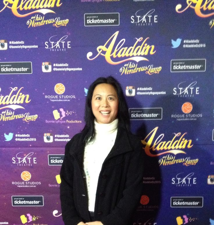 At the opening of Aladdin