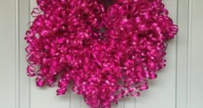 curly cute birthday wreath, crafts, wreaths