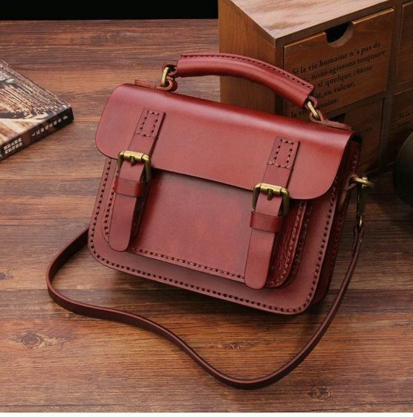 Ручной работы кожаные сумки Женская мода Сумка кожаная Сумка 14084 - LISABAG - 1