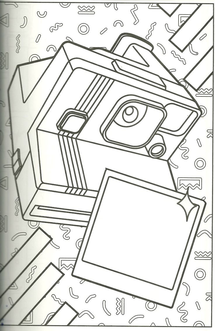 polaroid coloring page. i have one of these cameras i use