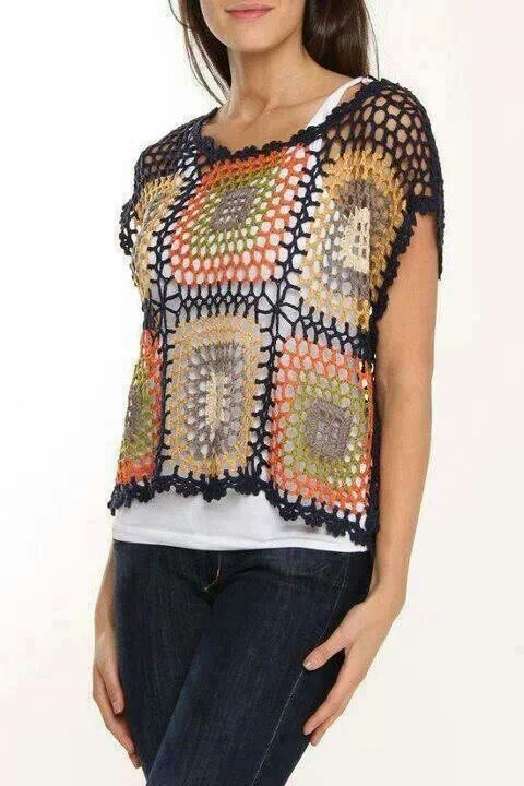 ~Granny square vest pattern, not in English
