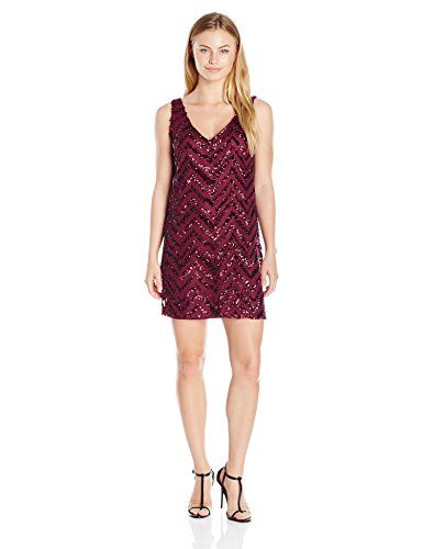 BB Dakota Women's Petite Mayfair Zig Zag Sequin Shift Dress - http://www.darrenblogs.com/2016/11/bb-dakota-womens-petite-mayfair-zig-zag-sequin-shift-dress/