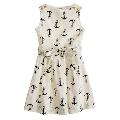 Girls candy anchor dress, 25% off right now but still expensive. Happy Birthday Nola?????????? J.Crew