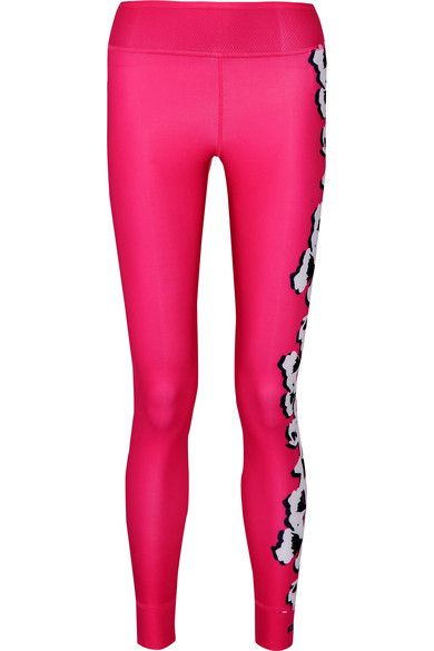 Multicolored stretch-polyester Pulls on 79% polyester, 21% spandex Machine wash Designer color: Shocking Pink/ Bright Red Imported