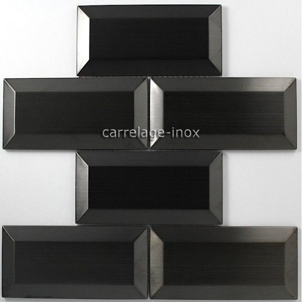 les 9 meilleures images du tableau carrelage en inox noir sur pinterest carrelage cuisine. Black Bedroom Furniture Sets. Home Design Ideas
