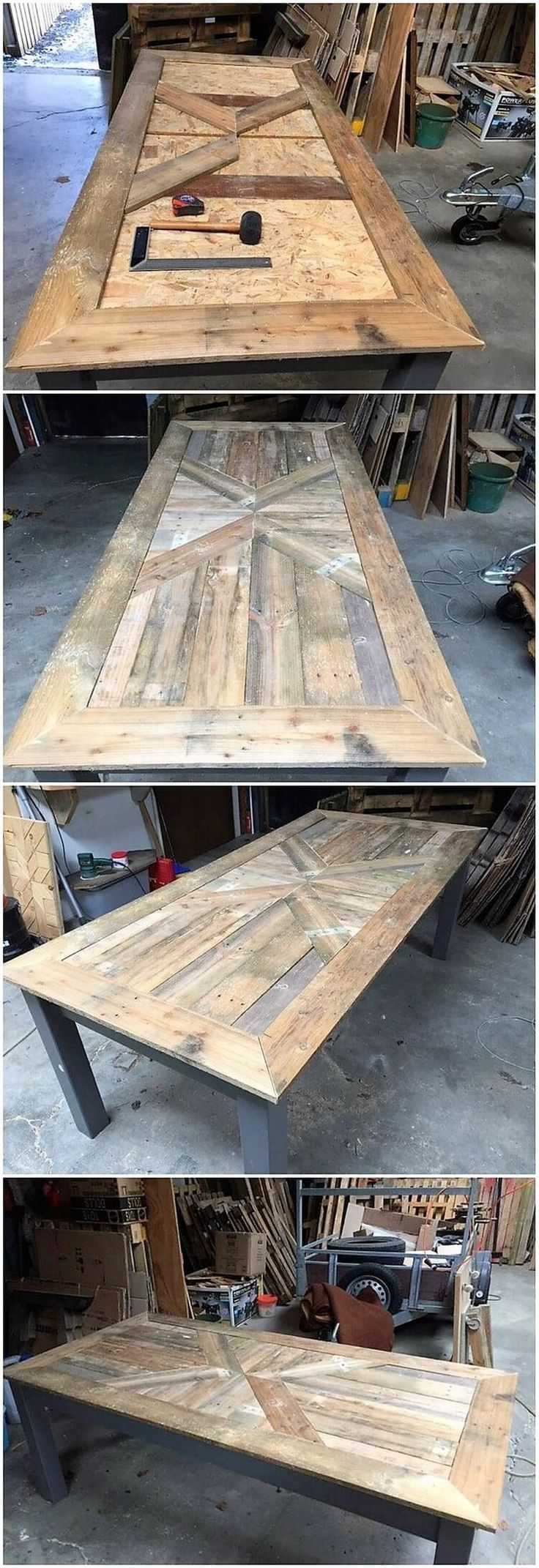 Incredible Ideas for Upcycling Shipping Wooden Pallets #wood Pallets # Ideas #u … #WoodWorking