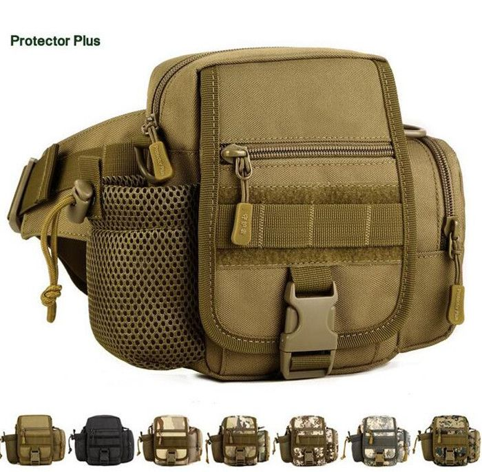 Protector Plus Outdoor Sports Tactics Kettle Waist Pack Waterproof Fanny Pack Belt Bag Sling Shoulder Messenger Hunting Waist Ba