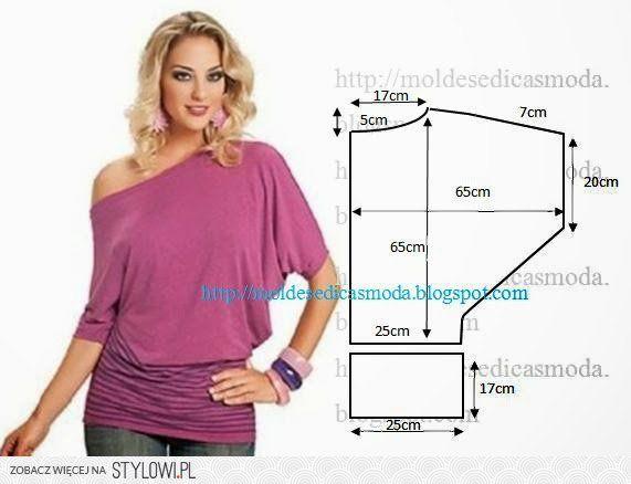 Moldes Moda por Medida: BLUSA FÁCIL DE FAZER - 5