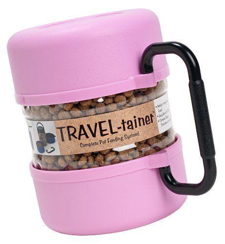 Gamma2 Pet Travel Tainer Bowl, Pink Gamma2, Inc. http://smile.amazon.com/dp/B006L49J24/ref=cm_sw_r_pi_dp_dCV1tb1A4QZY8RHZ