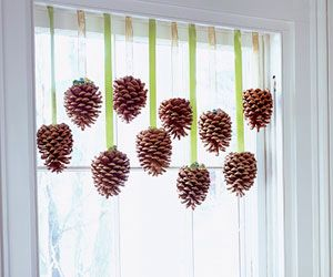 Pinecone curtain doodads