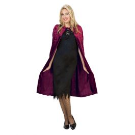Add this beautiful cape to your costume./ Wally's Party Factory #burgundy #crushed #velvet #cape