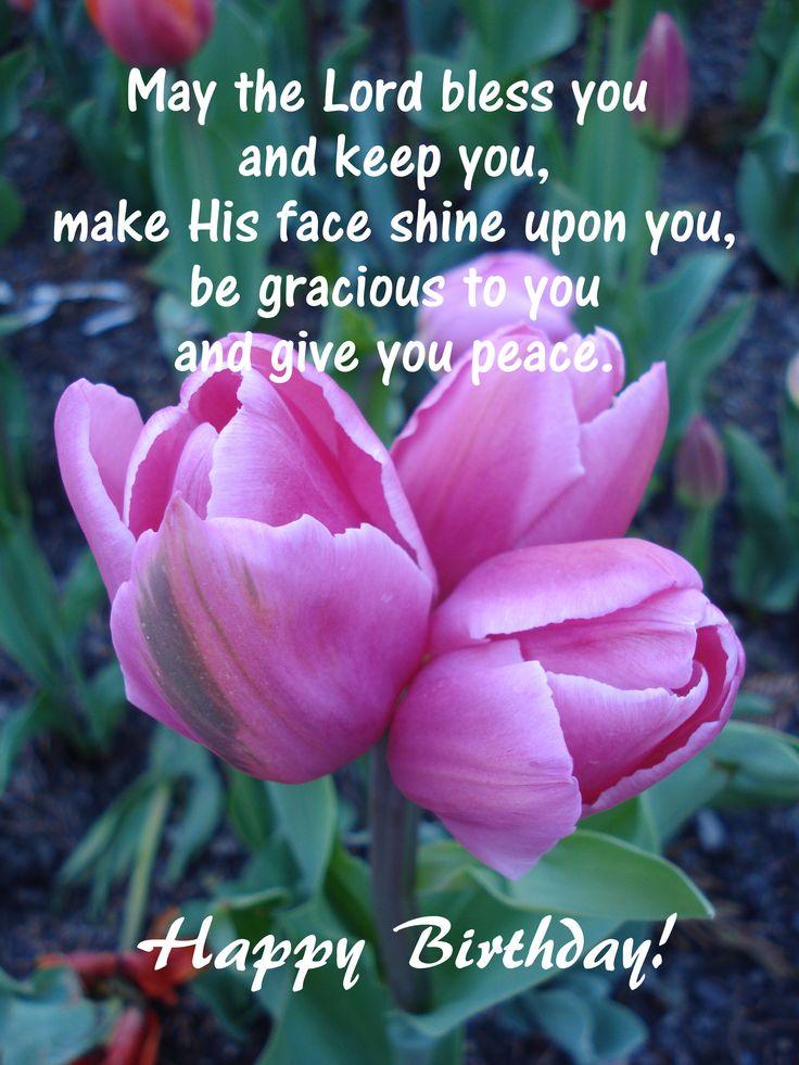 Birthday wishes - tulips
