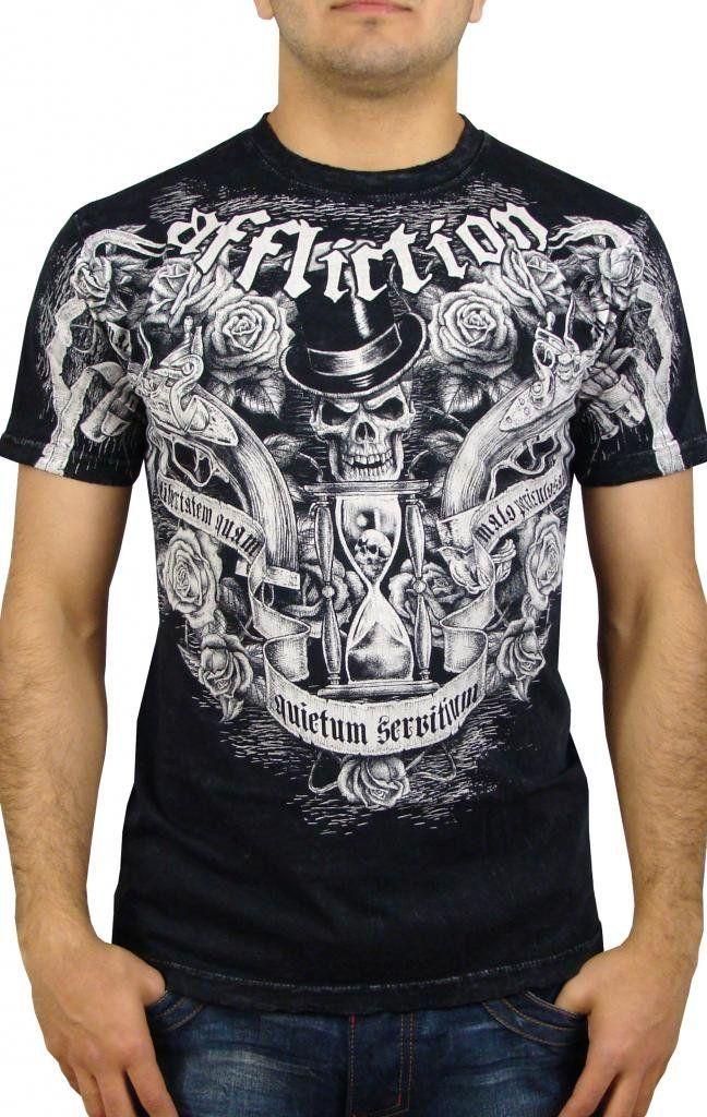 Affliction Men's Gun Powder T-Shirt: Gun Powder Men's Short Sleeve T-shirt  By Affliction