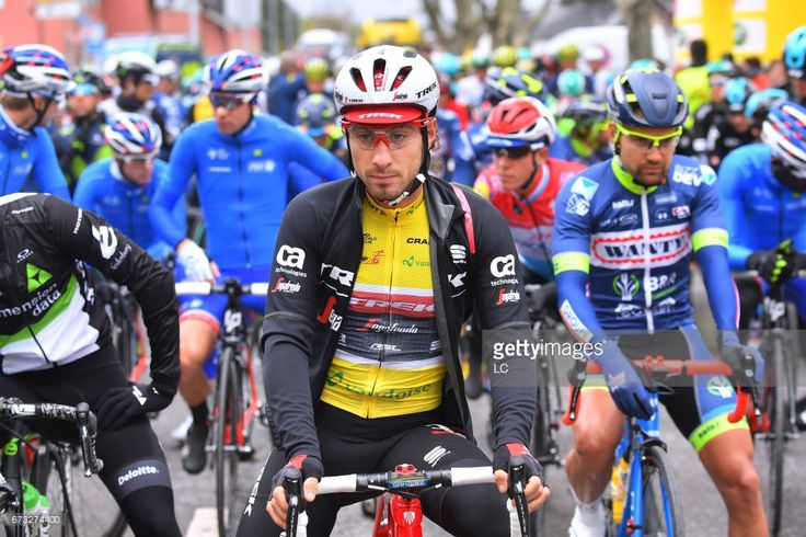 #TDR2017 71st Tour de Romandie 2017 / Stage 1 Start / Fabio FELLINE (ITA) Yellow leaders jersey / Aigle - Champery- Bulle 782m (173,3Km) /