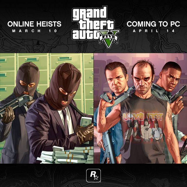 GTA 5 PC Release Delayed http://www.ubergizmo.com/2015/02/gta-5-pc-release-delayed/