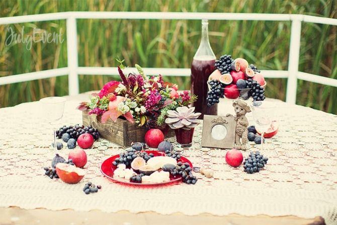 угощения на осенней свадьбе