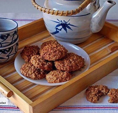 Galletas tiernas de puré de manzana y avena. Receta