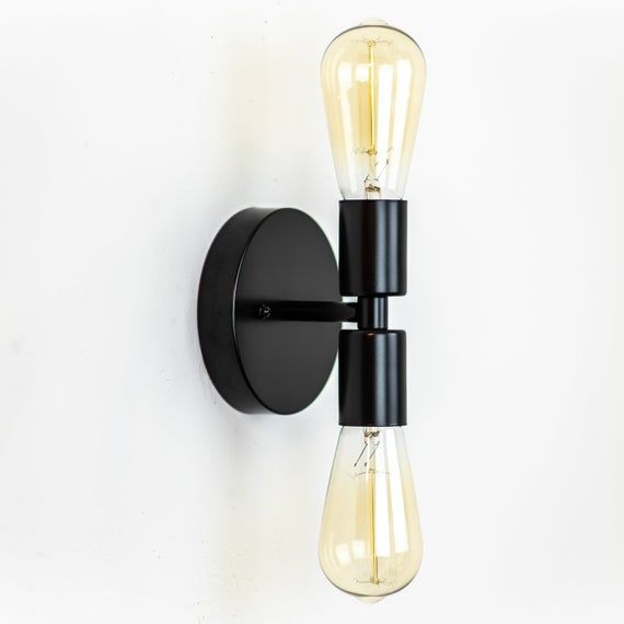 Black Wall Sconce Modern Sconce Vanity Light Fixture Etsy Industrial Wall Lamp Wall Sconces Wall Sconce Hallway