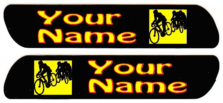 Short Bike Tag with Name Sticker (Width=60mm, Height=12mm)