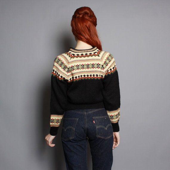 Label: Nor-Pol Importers Inc, Minneapolis // Norwegian Handknit, 100% Wool, Made in Norway