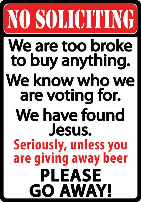 No Soliciting Sign 1494 | Buffalo Trader Online