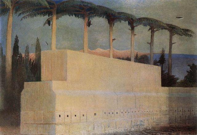Tivadar Kosztka Csontváry - Aldozati ko Baalbekben, 1906