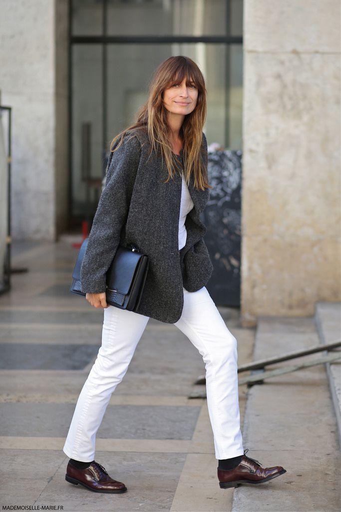 Caroline de Maigret at Paris fashion week