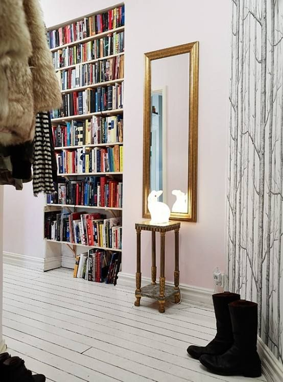 doorway book shelf