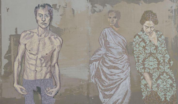 Mystique 3_oil on canvas_140cmx240cm_TarikBerber_London 2014