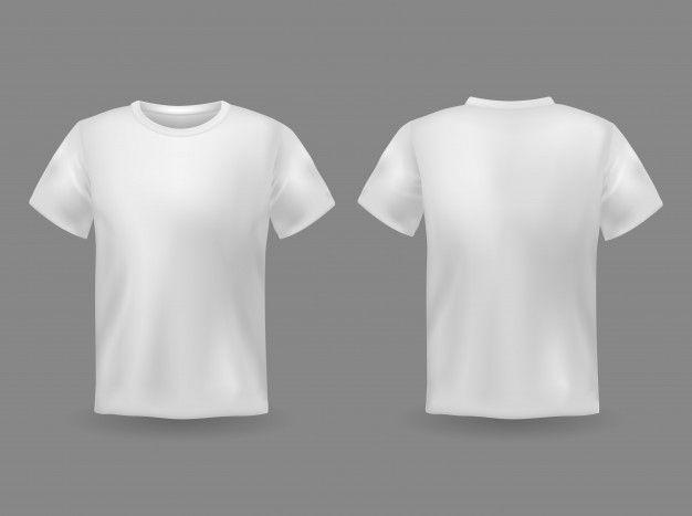 T Shirt Mockup White Blank T Shirt Front And Back Views Realistic Sports Clothing Uniform Female And Male Clothes Template Blank T Shirts Shirt Mockup Tshirt Mockup