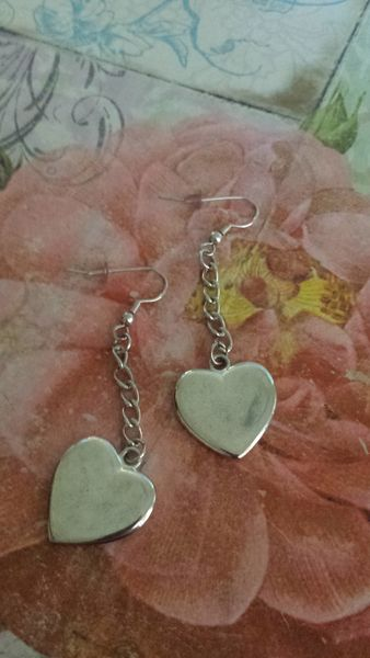 Silver Plated Heart Earrings