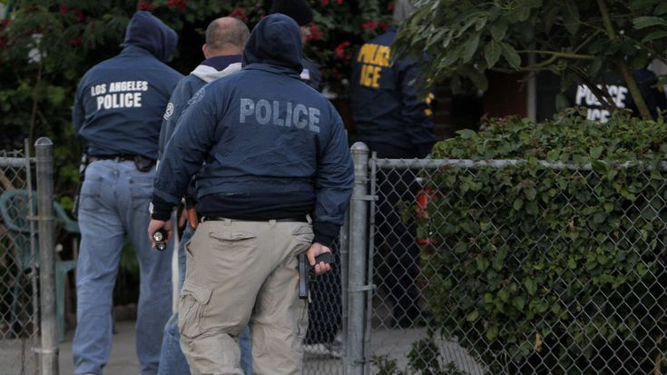 """The mayor of Los Angeles co-signed a letter to the federal Immigration and Customs Enforcement agency requesting that its agents not identify themselves as """"police"""" during operations in the city."""