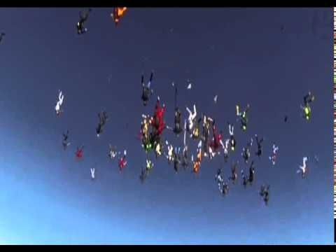 A New World Record for the Largest ever Vertical Skydiving is set in Ill...