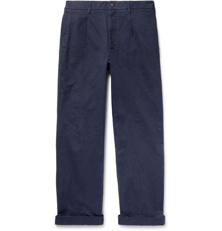 Mr. Porter x Noah NYC Pleated Cotton-Twill Chinos
