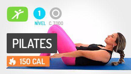 Aula de Fit Pilates para definição abdominal, centro do corpo. Ajuda também na postura, perder barriga e definição no centro do corpo (core).