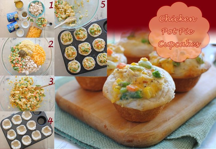 Chicken Pot Pie Cupcakes   Main dishes   Pinterest