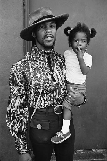 Super Fly & Mini Mite……I Love the 70's (Fashion). Dad and daughter strike the pose. Photo By Nacio Jan Brown