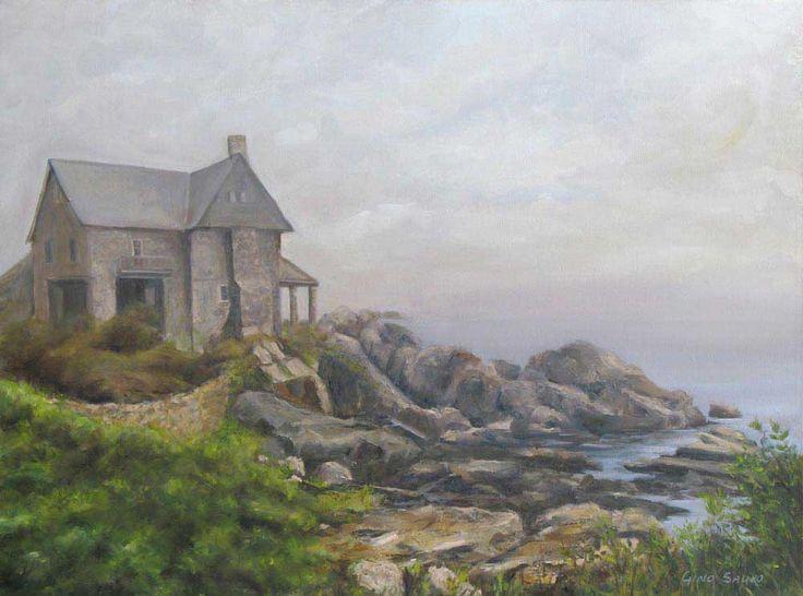"""Maison sur la falaise. Huile sur toile,24""""x18"""""""