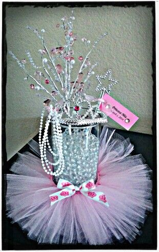 Princess baby shower centerpiece...made by yours truly! :)